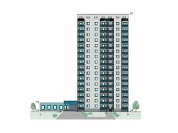 pgs diplom ru дипломные проекты по многоэтажным жилым домам  Проект №2 12 16 этажный жилой дом с пристроенным магазином в г
