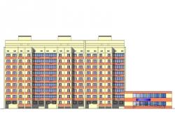 Купить дипломный Проект № ти этажный жилой дом с  Проект №2 20 9 ти этажный жилой дом с пристроенным помещением в