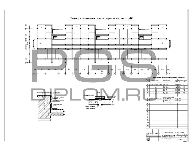 8.Схема расположения плит  ...