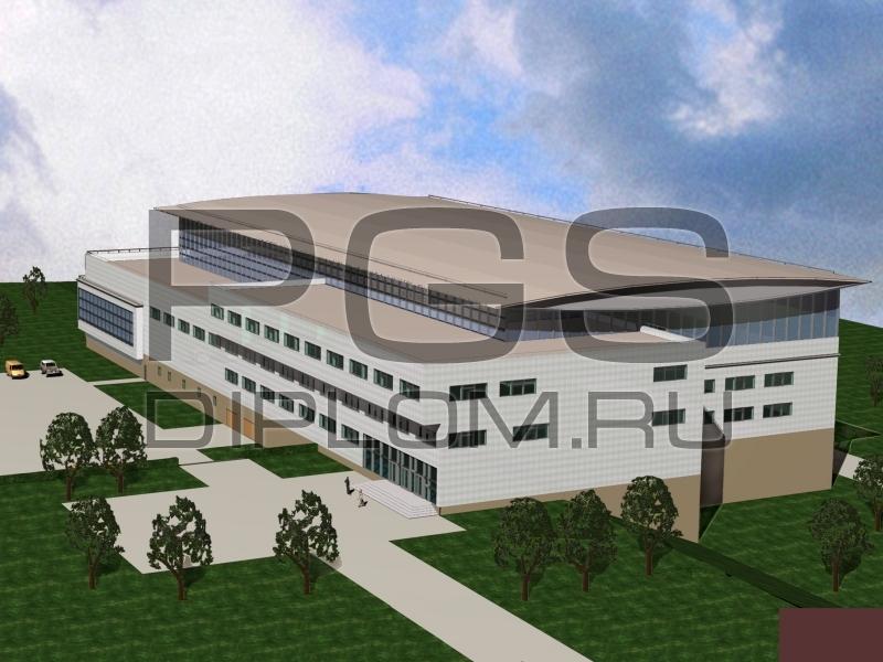 Купить дипломный Проект № Дворец водных аттракционов в г  1 3d модель jpg